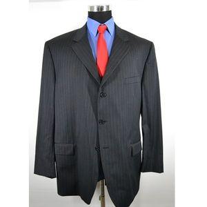 Andrew Fezza 50R Sport Coat Blazer Suit Jacket Bla